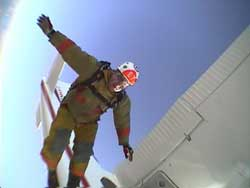 Chris - First ever Skydive done in Full Fire Fighter Gear