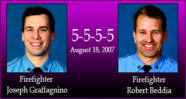 FDNY Announces the Deaths of Firefighters Joseph Graffagnino and Robert Beddia